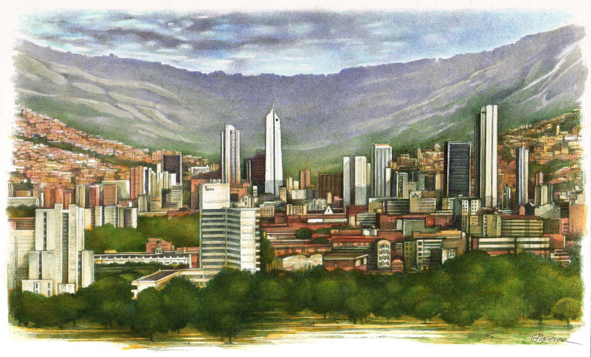 "Ilustración Editorial Cristina Figueroa ""Medellín"""