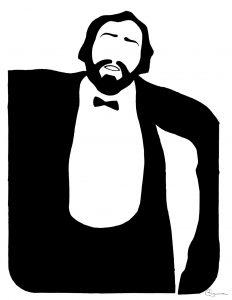 Luciano Pavarotti por Cristina Figueroa