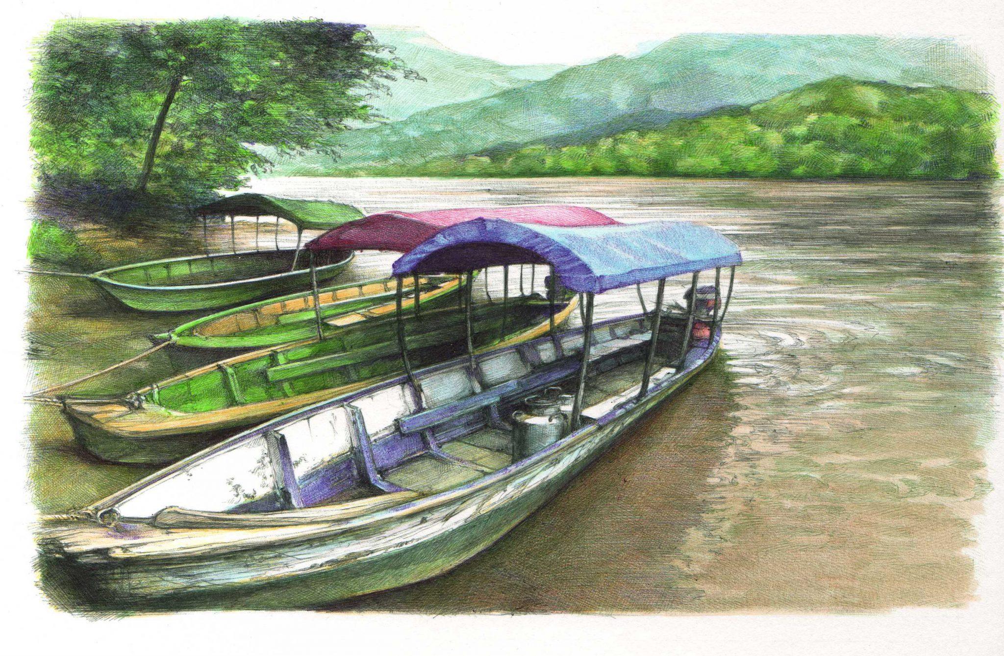 Río Magdalena en Mompox por Cristina Figueroa