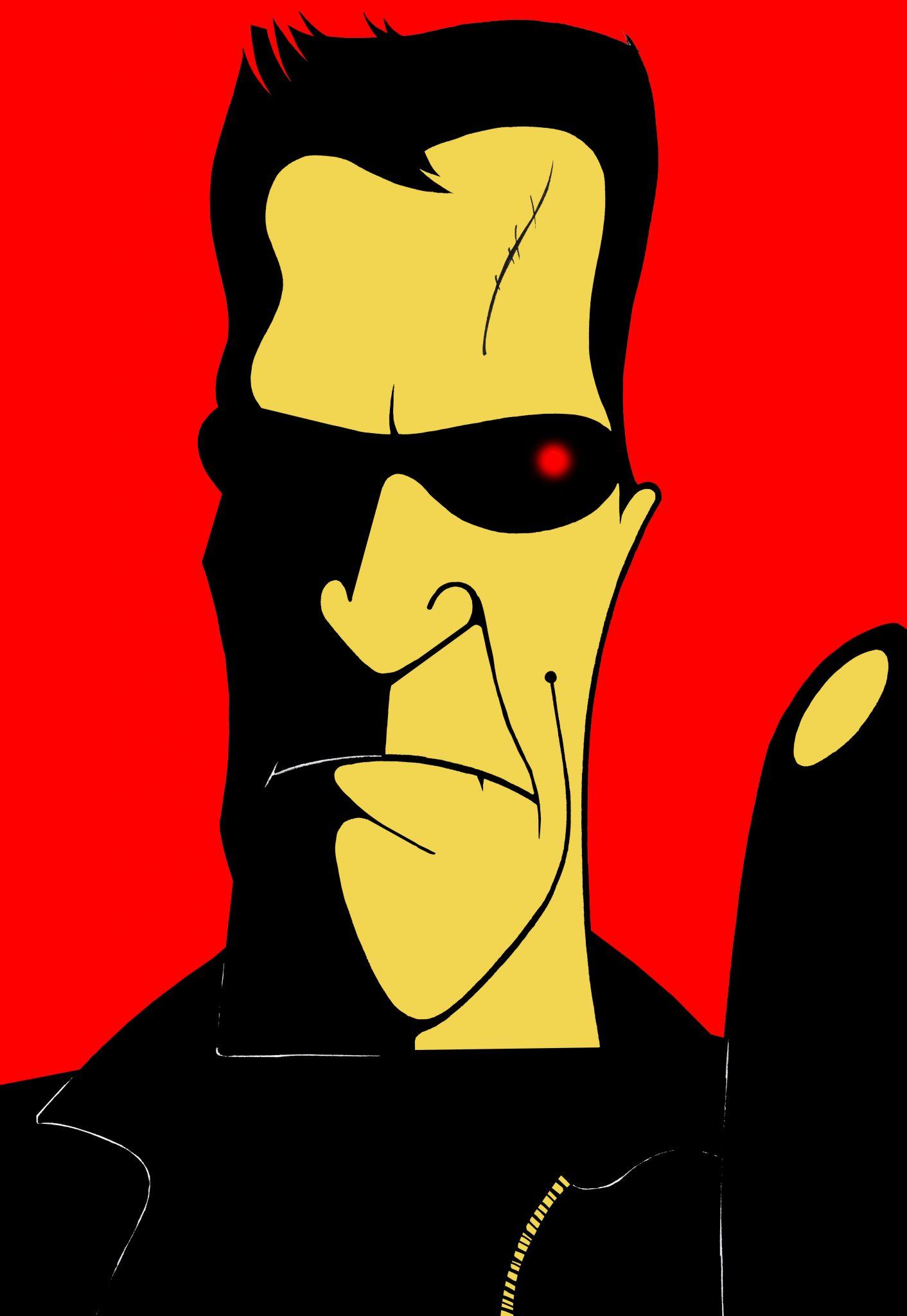 Caricatura de Terminator por Cristina Figueroa
